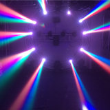 De Disco van de partij Licht van Twee Gezicht van DMX 512 In1 leiden RGBW 4 het Mini Bewegende Hoofd