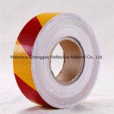 Une bande en PVC rouge et blanc de prudence du ruban adhésif réfléchissant (C3500-S)
