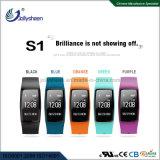Hete Armband 0.96 van Bluetooth van het Tarief van het Hart van de Verkoop ' oled het Scherm van de Vertoning met de Riem van de Pols TPU en 90mAh IP67 Ce, RoHS, Erkend FCC
