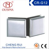 亜鉛合金ガラス固定クランプ(CR-G12)への180度ガラス