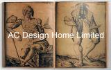 تاريخ [أنثروفولوج] [بو] [لثر/مدف] خشبيّة كتاب شكل جدار فنية