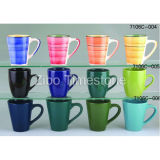 세라믹 Stoneware Solid Color Blank Coffee Mugs (7106c-006)