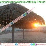 Natuurlijk kijk Synthetische Palm met stro bedekken voor Paraplu van het Strand van de Bungalow van het Water van het Plattelandshuisje van de Staaf Tiki/van de Hut Tiki de Synthetische Met stro bedekte
