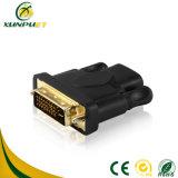 까만 여성 남성 HDMI 케이블 전원 변환 장치 접합기