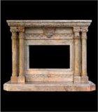 穴の石の柱の暖炉(SH-CT-A075)