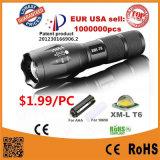 CREE Xm-L T6 Focus linterna LED de alta potencia ajustable