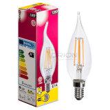 Ampoules approuvées de filament de la couverture C35 E27 4W 400lm 2700K Dimmable DEL d'espace libre de lumière de bougie de filament de SAA 240V DEL