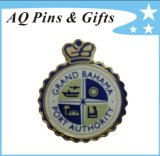 Metallo Police Badge con il Pin di Cloisonne Trading (badge-022)