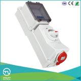 Soquete Non-Waterproofing com intertravamento Duo e instalar DIN Rail