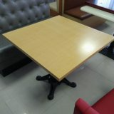 Oak Wood Table Top (RT-39)の鋳造物Iron Frame Restaurant Table
