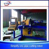 Gefäß-Rohr bündelt den CNC-Plasma-Flamme-Ausschnitt, der Bohrmaschine-/Kasry 3 Mittellinien-Rohr-Ausschnitt-Maschine kerbt