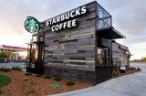 中国は喫茶店として容器の家を組立て式に作った