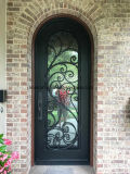 Interior Decorativo Full Round Top Iron Side Doors para casa