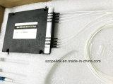 Doos OADM Mux/Demux 2+2channel Plastic LC van de Vezel van Gpon van de telecommunicatie de Optische