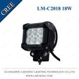Coche campo a través SUV de la viga de punto de la calidad de Lmusonutop IP67 barra ligera LED 18W del coche de 4.5 pulgadas