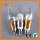 lampadina approvata della candela di RoHS LED del Ce di 3W E14 E27 per il lampadario a bracci