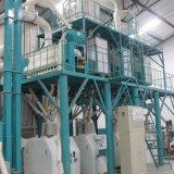 Máquinas da fábrica de moagem do trigo que funcionam em Etiópia
