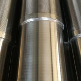 Alambre de acero inoxidable envuelto el filtro de aceite del tubo de pantalla