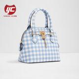 Klassischer Handtaschen-Dame-Checktote-Beutel mit kleinem Verschluss