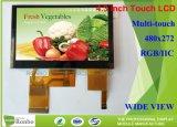 Visor LCD multi touch capacitiva de 4.3 polegadas 480 * 272 painel LCD da Tela de Toque