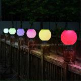 屋外の中庭のゲートの装飾的な照明リモート・コントロール球の形の太陽柱ライト