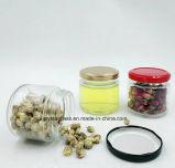 30ml Jam-Jar de vidro de 50 ml com tampa de folha de flandres vermelho