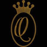 Jóias Princess Crown Crystal Rhinestone Padrão de Transferência