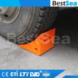手段のトラックのトレーラーのタイヤのハンドルが付いている取り外し可能な前部車輪のくさび
