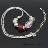 De Juwelen van de manier om de Ovale Vervanging van de Parels van het Glas van het Kristal met Rond Vlak Plastiek parelen Halsband voor de Juwelen van Vrouwen