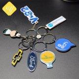 カスタム工場価格車のロゴのブランドの印刷によって印刷される金属Keychain