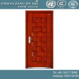 Portello esterno di singola del MDF del PVC dell'acciaio obbligazione di rossoreare con la pittura rossa dell'ebano