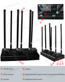 Uav-Nuova emittente di disturbo per 3G, 4G cellulare astuto, Wi-Fi, Bluetooth, telecomando 433MHz/315MHz/868MHz, emittente di disturbo del telefono cellulare del ronzio dell'automobile con il buon sistema di raffreddamento