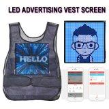 LED, die flexibler Bildschirm-weichen den Bildschirm farbenreiche LED des Weste-Bildschirm-LED Bildschirm der Bildschirm-bewegliche Förderung-dünnen Weste-bekanntmachend LED bekanntmacht