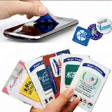 Wholesale reutilizables personalizada pegajosa de microfibra limpiador de pantalla de teléfono de pantalla del teléfono Cleaner Limpie regalo promocional