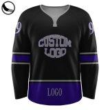 Team-Kanada-nach Maß Rabattathletische Knit-Großverkauf-Ebenen-purpurrotes Hockey Jersey