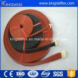 Luva de fibra de vidro de combate a incêndio revestida de silicone de 45mm