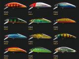 Atração plástica da pesca (Minnow ágil 50)