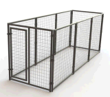 chenil de crabot de treillis métallique de soudure de 5 ' *6'*7'/cage enduits de saupoudrage extérieurs de crabot