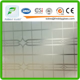 4-6mm заморозили/вытравленное кислотой стекло декоративных/искусствоа с Ce & ISO9001