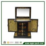 大きく永続的なミラーの宝石類の収納箱