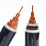 Baixo cabo distribuidor de corrente de cobre subterrâneo de tensão Cu/XLPE/Swa/PVC para o subterrâneo