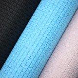 Couro sintético de couro artificial Textured do saco do Weave de cesta do plutônio do Glitter