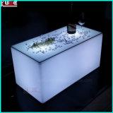 Mobilier lumineux à LED lumineux à LED table Table carrée KTV