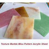 Lamiera sottile di marmo dell'acrilico del reticolo della mica di tessitura