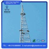 Torre de comunicación Legged del tubo tres autosuficientes