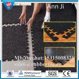 屋外のパスのスリップ防止ゴム製床タイル