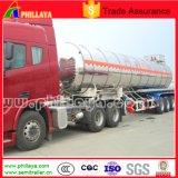 3axles de Semi Aanhangwagen van de Tanker van het Roestvrij staal van de Vrachtwagen van de Melk van de brandstof