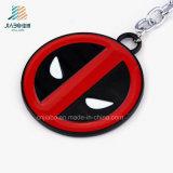 sostenedor Keychain de la moneda del metal de la insignia de Deadpool del esmalte de la aduana de 30m m para el regalo promocional