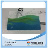 M1 de plástico transparente de RFID Clássico Cartão de negócios com a FM4428