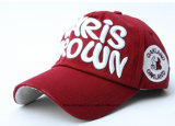 Logotipo personalizado personalizado Logotipo bordado Promocional Red Cotton Twill Adjustable Sports Baseball Cap
